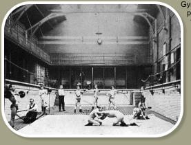 A Gym session in the Maden Baths.
