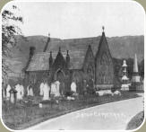 The Non Comformist Chapel that once stood in the cemetery.