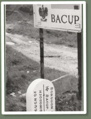Road sign and Bacup Boundary marker on Todmorden Road